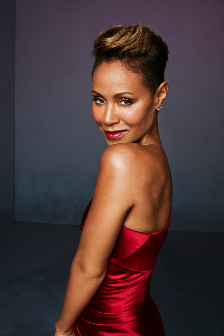 Jada Pinkett Smith a Red Table Talk host in red by The Saint